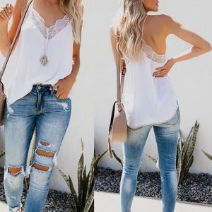 Ivory Delicate Lace Cami Top